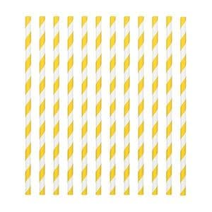 Candy Stripe Paper Straws Yellow (pack of 24)
