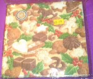 Christmas Napkins 3ply pack of 15:  Gingerbread Man
