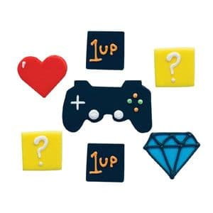 Creative Party Edible Decorations: Gaming (pack of 7)