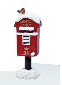 Creative Party Resin Christmas Cake Topper: Countryside Post Box with Robin