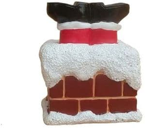 Creative Party Resin Christmas Cake Topper: Santa Stuck in Chimney