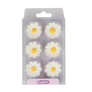Culpitt Sugar Flowers 361:  Daisies (pack of 12)