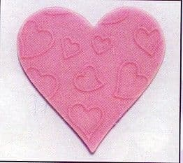 Pink Embossed Hearts