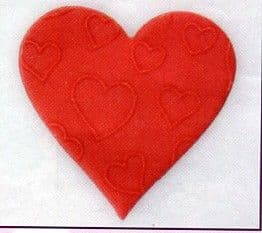 Red Embossed Hearts