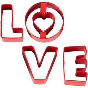 Wilton Cookie Cutters: Love (set of 4)