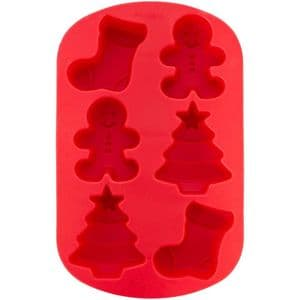 Wilton Silicone Treat Mould: Gingerbread Boy, Tree & Stocking