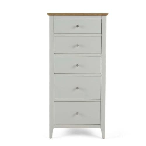 Aston Painted Tall 5 Drawer Chest