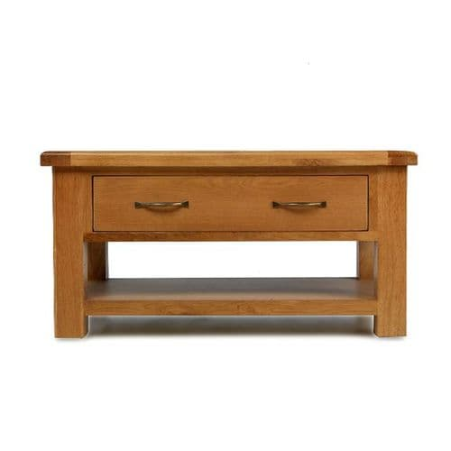 Bradley Oak Large Coffee Table with Drawers