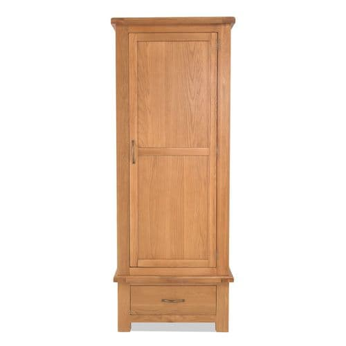 Bradley Oak Single Wardrobe