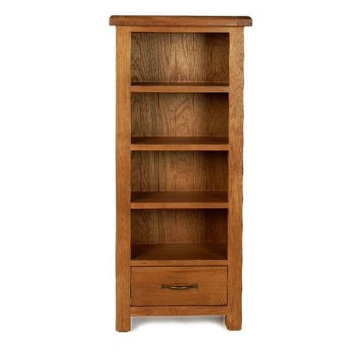 Bradley Oak Small Bookcase DVD/CD unit