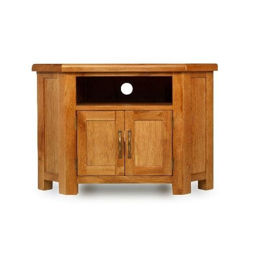 Bradley Oak Small Corner TV Unit