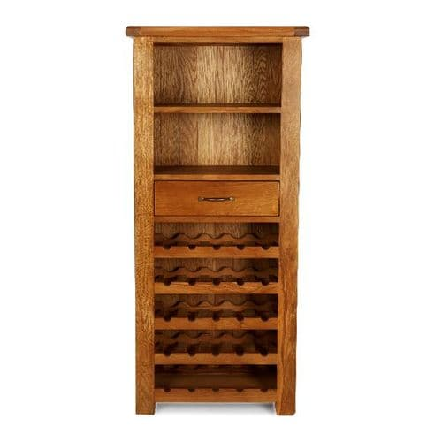 Bradley Oak Tall Wine Cabinet