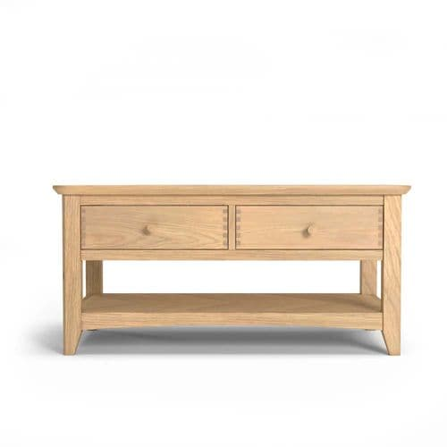 Hartford Oak Coffee Table with Drawers