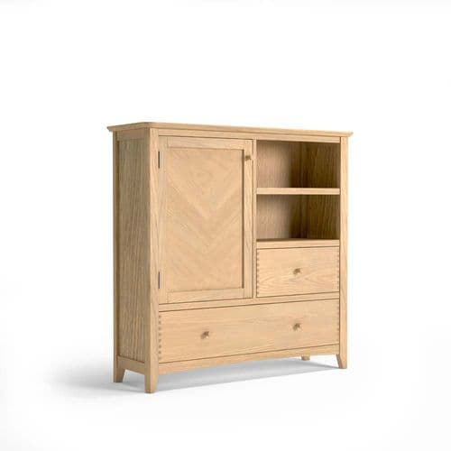Hartford Oak Storage Cabinet