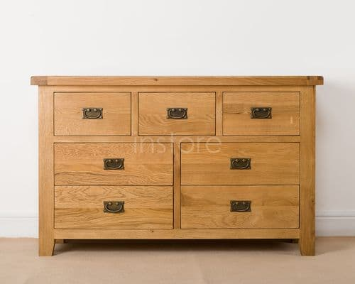 Loxley Wide 3 Over 4 Chest Of Drawers