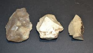 A cheap group of 3 x Neolithic flint tools, ex old French collection, early 1900's SOLD