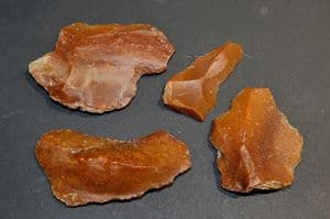 A great value group of 4 x sizeable Paleolithic Neanderthal flint flake / blade tools, France SOLD