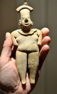 A large and excellent Pre-colombian South American terracotta votive figurine from Colima, Mexico. SOLD