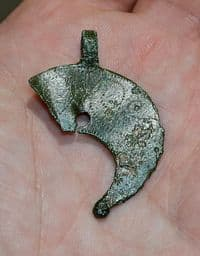 A large and impressive Roman bronze Lunular (Crescent) Pendant [Lunulae]. Nottinghamshire SOLD