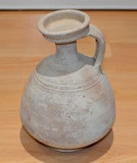 A large and impressive Roman buffware terracotta Wine Flagon, Tunisia, N.Africa SOLD