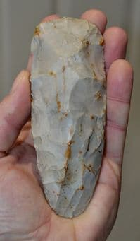 A large  and superb quality Neolithic flaked flint axe from Coltishall, Norfolk (M21) SOLD