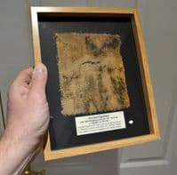 A large & very nicely framed segment of linen wrapping from an Ancient Egyptian Mummy (K11) SOLD