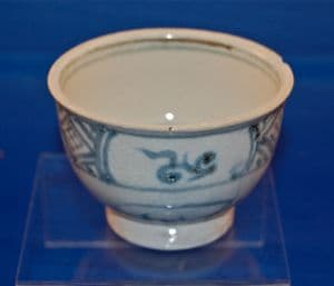 A lovely 15th Century Ancient Chinese glazed bowl from the