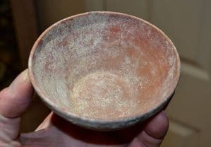 A lovely Ancient Greek, redware terracotta Bowl, Campania, Southern Italian Colonies SOLD