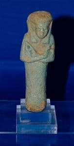 A rare and superb Ancient Egyptian Female Ushabti figure, possibly a Priestess.