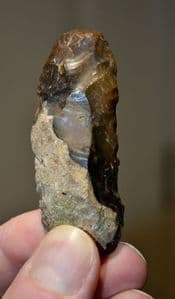 A superb, well worked Paleolithic flint