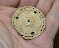 A very rare Roman carved and turned bone Childs spinning toy (Whirligig) found in Northamptonshire. SOLD