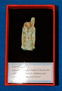 The upper half of a large Ancient Egyptian amulet of Anubis, God of the Underworld. SOLD