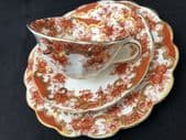 CAREWORN Edwardian Rust floral tea trio