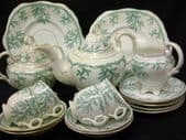 CAREWORN Mid Victorian part tea service for four.