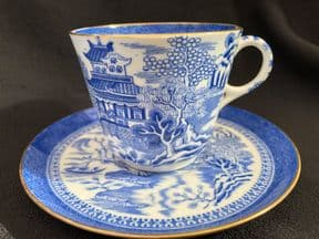 COPELAND Willow pattern espresso cup & saucer