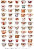 Gift wrap /poster Georgian cups