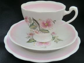 Roslyn Pink and floral tea trio