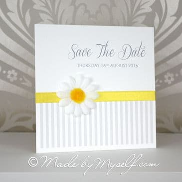 3D Daisy Save The Date