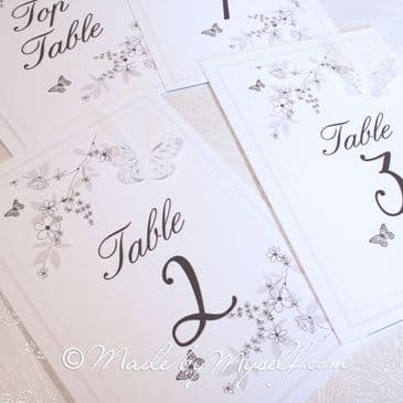 Butterfly Garden Table Number