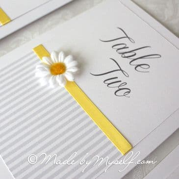 Daisy Table Number
