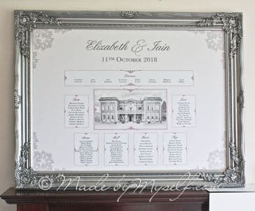 Eaves Hall Table Plan with Frame