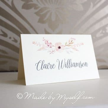 Floral Circle Place Card