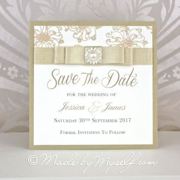 Floral Glitz Save The Date