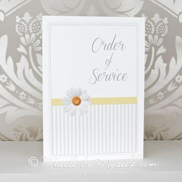 Printed Daisy Order of Service