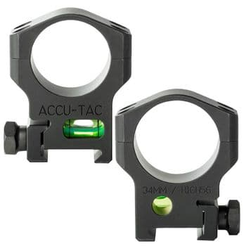 Accu-Tac 34mm Weaver/Picatinny High Mount Rings Bubble Level Built in HSR-340