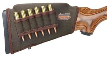 Beartooth Comb Raising Kit 2.0 - BROWN Neoprene - 6 Rifle Bullet Ammo Loops - CRKRA900