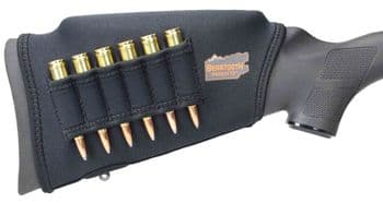 Beartooth Comb Raising Kit MK 2.0 BLACK Neoprene 6 Rifle Bullet Ammo Loops - CRKRA100