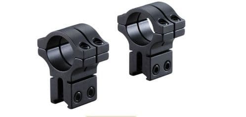 """BKL 263H Double Strap 3/8"""" & 11mm base Rimfire Airgun Rifle Scope 1""""/25mm Mount Rings - Extra High"""