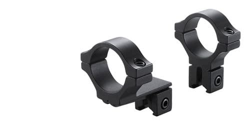 """BKL 274 Rimfire and Airgun Dovetail 3/8""""-11mm base, Rifle Scope 1""""/25mm tube mount rings with OFFSET - Medium/High profile"""