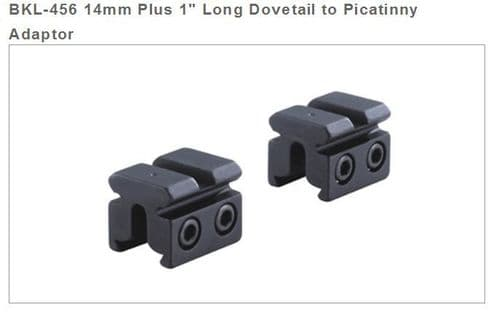 BKL 456 14mm Dovetail to Picatinny Adapter Base Riser